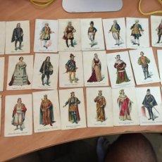 Coleccionismo Cromos antiguos: 24 CROMOS REYES REINAS SOBERANOS SOBERANAS ESPAÑA . PUBLICIDAD VINO URANADO PEPSICO (COIB124). Lote 214102788