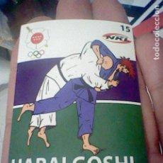 Coleccionismo Cromos antiguos: HARAI GOSHI 15 JUDO ARTES MARCIALES CROMO ADHESIVO 7 X 5 CM FEDERACION MADRILEÑA *. Lote 214281856