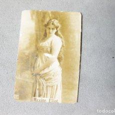 Coleccionismo Cromos antiguos: CROMO FOTOGRÁFICO DE MAXIME ELLIOT. PAPEL DE FUMAR O CAJA DE CERILLAS. 2,5 X 4 CMS. Lote 214293396