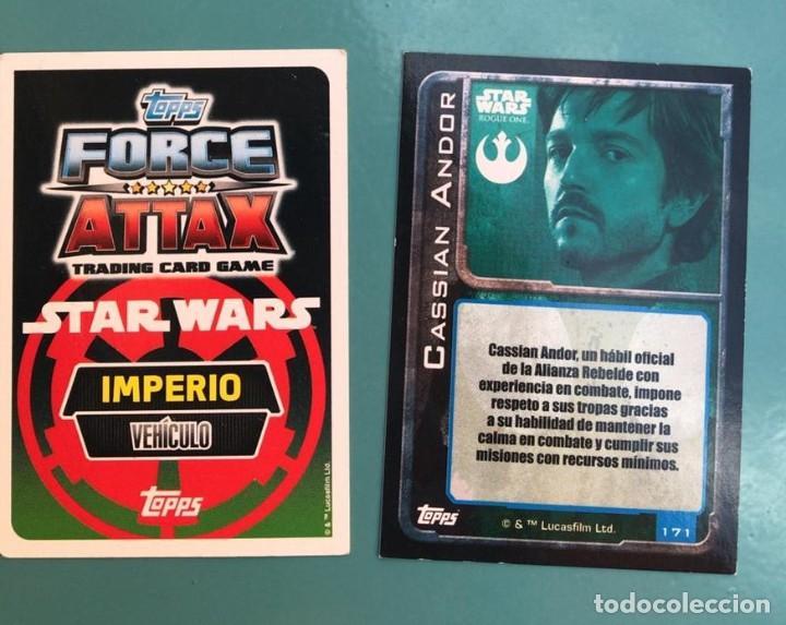 Coleccionismo Cromos antiguos: CROMOS STAR WARS FORCE ATTAX TOPPS - Foto 2 - 215044600
