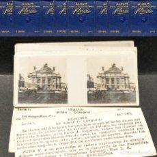 Coleccionismo Cromos antiguos: CROMOS SUELTOS FOTOGRAFÍAS ESTEREOSCÓPICAS CHOCOLATES SOLSONA RIUS. Lote 215098548