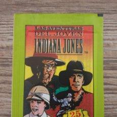 Coleccionismo Cromos antiguos: DIFICIL SOBRE DE CROMOS SIN ABRIR LAS AVENTURAS DEL JOVEN INDIANA JONES (EDICIONES ESTE) -(1992). Lote 215715712