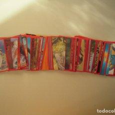 Coleccionismo Cromos antiguos: LOTE 64 CROMOS EL GRAN ALBUM DE LOS DINOSAURIOS. Lote 216370897