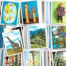 Coleccionismo Cromos antiguos: 77 CROMOS RUTA ARQUEOLOGÍA PIRATAS VOLCANES PETROLEO VIAJE ISLAS PUEBLOS PRIMITIVOS VACACIONES,. Lote 216442436