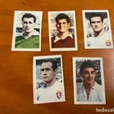 Collectionnisme Cartes à collectionner anciennes: LOTE 5 CROMOS DEL REAL ZARAGOZA RUIZ ROMERO 58/59. Lote 216845371