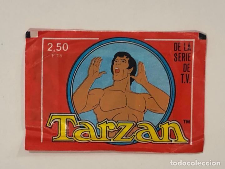 SOBRE DE CROMOS TARZAN. NUEVO A ESTRENAR (Coleccionismo - Cromos y Álbumes - Cromos Antiguos)