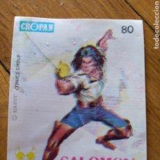 Coleccionismo Cromos antiguos: CROPÁN CROMO SUPER HÉROES NÚM 80. SALOMON KANE. Lote 217671215