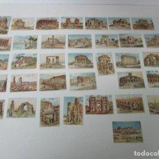 Coleccionismo Cromos antiguos: LOTE DE CROMOS MONUMENTOS ANTIGUOS - 37 CROMOS DE 40 - COLECCIÓN PAPEL CARLETS, OLOT - RARO. Lote 218135711