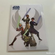 Coleccionismo Cromos antiguos: TOPPS STAR WARS USA THE CLONE WARS 2008. PROMO CARD P1. Lote 218262950