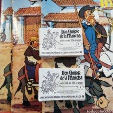 Coleccionismo Cromos antiguos: LOTE DE 200 CROMOS DON QUIJOTE DE LA MANCHA BRUGUERA. Lote 218384467