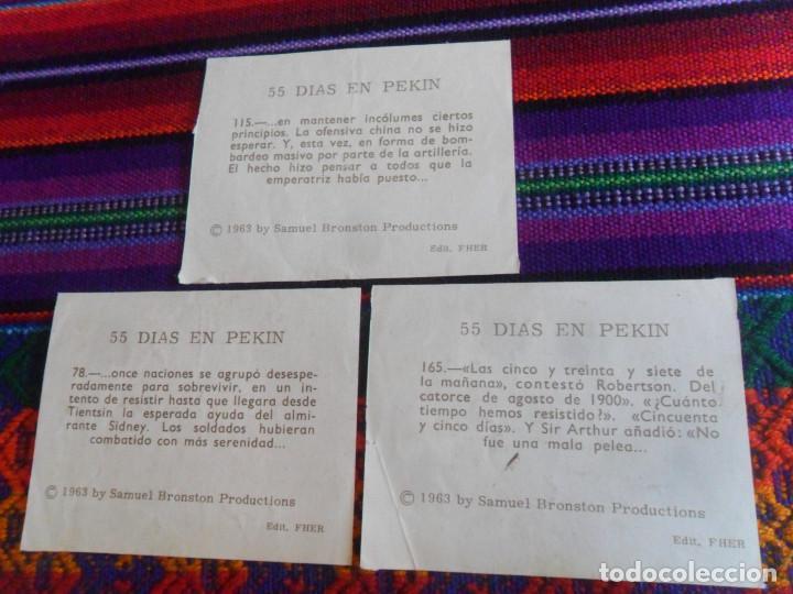 Coleccionismo Cromos antiguos: CROMO NUNCA PEGADO 55 DÍAS EN PEKIN NºS 115 165 78 52 168. FHER 1963. - Foto 3 - 218723563
