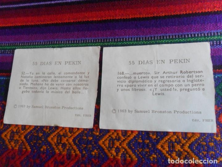 Coleccionismo Cromos antiguos: CROMO NUNCA PEGADO 55 DÍAS EN PEKIN NºS 115 165 78 52 168. FHER 1963. - Foto 4 - 218723563