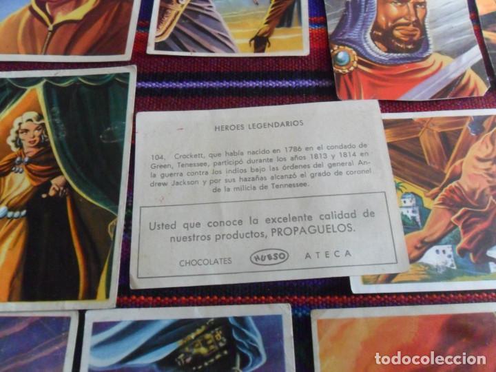 Coleccionismo Cromos antiguos: CROMO NUNCA PEGADO HÉROES LEGENDARIOS 156 139 55 19 152 85 84 61 150 104 149 HUESO 1966. 5 DE REGALO - Foto 2 - 218724400