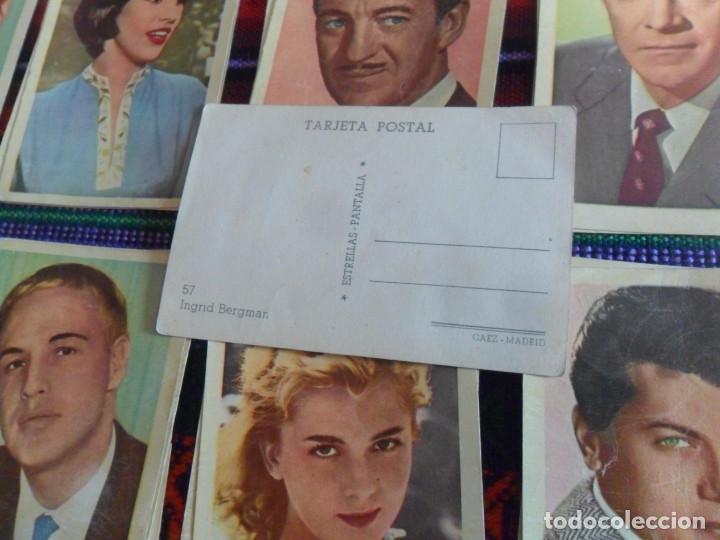 Coleccionismo Cromos antiguos: LOTE 39 CROMO TARJETA POSTAL ESTRELLAS PANTALLA. GAEZ MADRID. AÑOS 50. RAROS. TAMBIÉN SUELTOS. - Foto 2 - 218725960