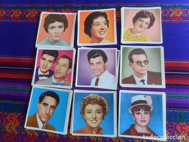 LOTE 67 CROMO NUNCA PEGADO FAMOSOS DE LA CANCIÓN RADIO Y TELEVISIÓN. BRUGUERA. MBE. TAMBIÉN SUELTOS. (Coleccionismo - Cromos y Álbumes - Cromos Antiguos)