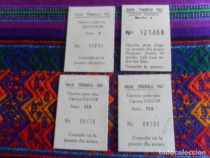 Coleccionismo Cromos antiguos: LOTE 4 CROMO NUNCA PEGADO GRAN TÓMBOLA 1967. GRÁFICAS VALTI DE VILLENA. MUY BUEN ESTADO. RAROS. - Foto 2 - 218732848