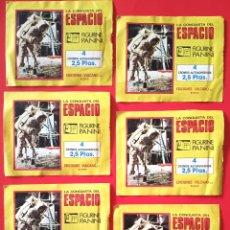 Coleccionismo Cromos antiguos: LA CONQUISTA DEL ESPACIO - 6 SOBRES SIN ABRIR CROMOS ADESIVOS. Lote 218751776