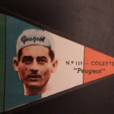 Coleccionismo Cromos antiguos: CROMO DE COLETTE PEUGEOT 115 DE LA ** VUELTA CICLISTA A ESPAÑA 1960 ** EDITORIAL FHER SIN PEGAR. Lote 218754561