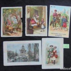 Coleccionismo Cromos antiguos: LOTE 5 CROMOS CHOCOLATE BAGUR, CIUDADELA. Lote 218817585