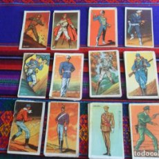 Coleccionismo Cromos antiguos: LOTE 43 CROMO SOLDADOS DEL SIGLO XX. RUIZ ROMERO 1960. TAMBIÉN SUELTOS.. Lote 218853952