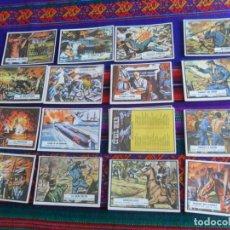 Coleccionismo Cromos antiguos: LOTE 30 CROMO Y LISTA DE CONTROL CIVIL WAR NEWS. CHICLE TOPPS 1968. BUEN ESTADO. TAMBIÉN SUELTOS.. Lote 218854256