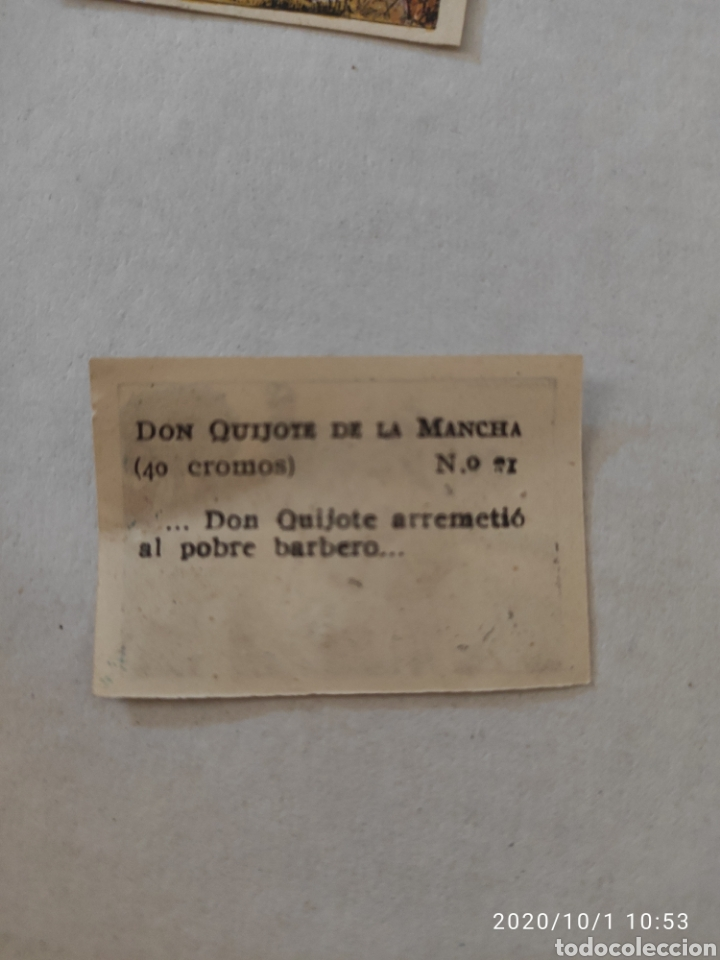 Coleccionismo Cromos antiguos: Lote 18 Cromos don quijote de la mancha - Foto 2 - 219362252