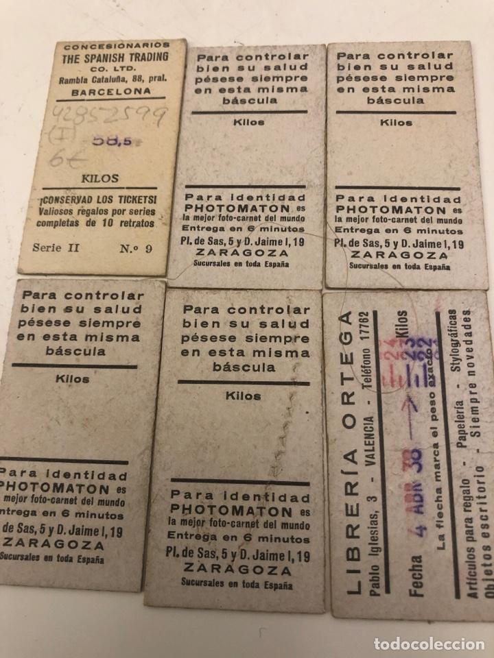 Coleccionismo Cromos antiguos: Ticket cromo pesa báscula artistas - Foto 2 - 220756226