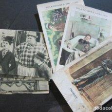 Coleccionismo Cromos antiguos: CHARLES CHAPLIN-CHARLOT-LOTE DE 11 CROMOS DEL ACTOR DE CINE-VER FOTOS-(76.683). Lote 220894647