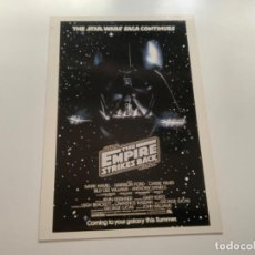Coleccionismo Cromos antiguos: TOPPS STAR WARS USA. WIDEVISION. THE EMPIRE STRIKES BACK. MINI POSTER 1. Lote 221450328