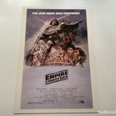 Coleccionismo Cromos antiguos: TOPPS STAR WARS USA. WIDEVISION. THE EMPIRE STRIKES BACK. MINI POSTER 3. Lote 221450450