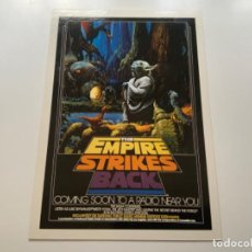 Coleccionismo Cromos antiguos: TOPPS STAR WARS USA. WIDEVISION. THE EMPIRE STRIKES BACK. MINI POSTER 6. Lote 221450658