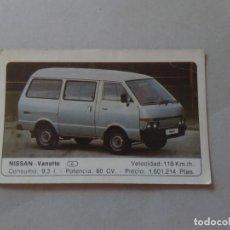 Coleccionismo Cromos antiguos: Nº 97 NISSAN VANETTE - CROMO MOTOR COLECCIÓN COCHES 1986 EDICIONES UNIDAS S.A.. Lote 221626083