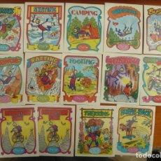 Coleccionismo Cromos antiguos: LOTE 14 CROMOS ADHESIVOS CHICLES CHEIW JUNIOR NUNCA PEGADOS. Lote 221796720