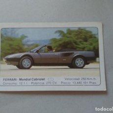 Coleccionismo Cromos antiguos: Nº 46 FERRARI MONDIAL CABRIOLET - CROMO MOTOR COLECCIÓN COCHES 1986 EDICIONES UNIDAS S.A.. Lote 221844152