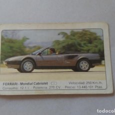 Coleccionismo Cromos antiguos: Nº 46 FERRARI MONDIAL CABRIOLET - CROMO MOTOR COLECCIÓN COCHES 1986 EDICIONES UNIDAS S.A.. Lote 221844230