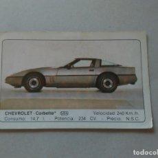 Coleccionismo Cromos antiguos: Nº 43 CHEVROLET CORBETTE - CROMO MOTOR COLECCIÓN COCHES 1986 EDICIONES UNIDAS S.A.. Lote 221844540