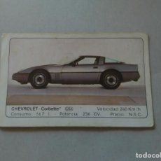 Coleccionismo Cromos antiguos: Nº 43 CHEVROLET CORBETTE - CROMO MOTOR COLECCIÓN COCHES 1986 EDICIONES UNIDAS S.A.. Lote 221844648