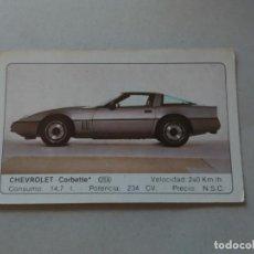 Coleccionismo Cromos antiguos: Nº 43 CHEVROLET CORBETTE - CROMO MOTOR COLECCIÓN COCHES 1986 EDICIONES UNIDAS S.A.. Lote 221844687