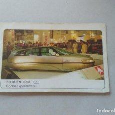 Coleccionismo Cromos antiguos: Nº 40 CITROEN EOLE - CROMO MOTOR COLECCIÓN COCHES 1986 EDICIONES UNIDAS S.A.. Lote 221845546