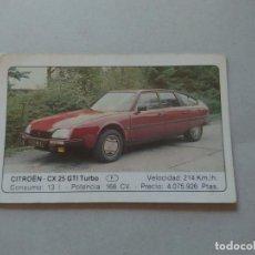 Coleccionismo Cromos antiguos: Nº 38 CITROEN CX 25 GTI TURBO - CROMO MOTOR COLECCIÓN COCHES 1986 EDICIONES UNIDAS S.A.. Lote 221846452