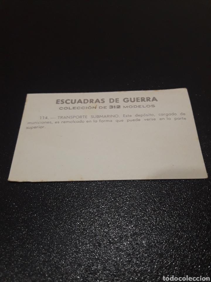 Coleccionismo Cromos antiguos: ESCUADRAS DE GUERRA N° 114. SIN PEGAR - Foto 2 - 221993682