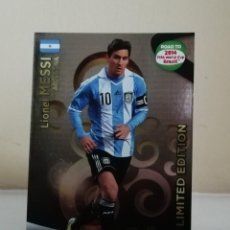 Coleccionismo Cromos antiguos: MESSI ADRENALYN XL LIMITED EDITION ROAD TO BRASIL 2014. Lote 222081083
