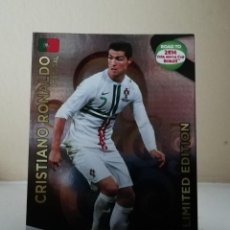Coleccionismo Cromos antiguos: CRISTIANO RONALDO ADRENALYN XL LIMITED EDITION ROAD TO BRASIL 2014. Lote 222081640