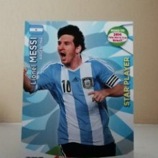 Coleccionismo Cromos antiguos: MESSI STAR PLAYER ADRENALYN XL ROAD TO BRASIL 2014. Lote 222081930