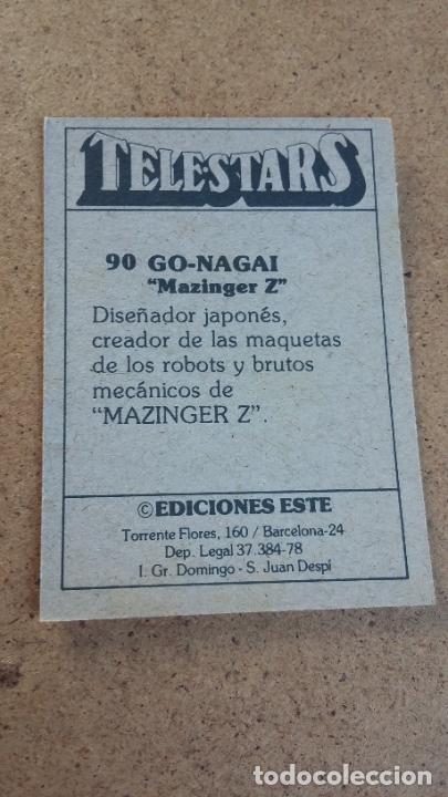 Coleccionismo Cromos antiguos: TELESTARS - EDICIONES ESTE - 90 GO NAGAI - MAZINGER Z ( NUNCA PEGADO ) 253 - Foto 2 - 222179830