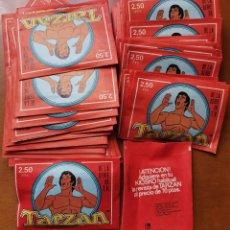 Coleccionismo Cromos antiguos: OCASION COLECCIONISTAS TARZAN FHER PANRICO 1979 - 50 SOBRES COTIZADOS PAQUETES DE CROMOS SIN ABRIR. Lote 222231055