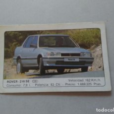 Coleccionismo Cromos antiguos: Nº 18 ROVER 216 SE - CROMO MOTOR COLECCIÓN COCHES 1986 EDICIONES UNIDAS S.A.. Lote 222253293