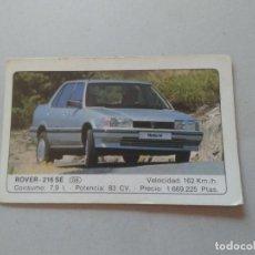 Coleccionismo Cromos antiguos: Nº 18 ROVER 216 SE - CROMO MOTOR COLECCIÓN COCHES 1986 EDICIONES UNIDAS S.A.. Lote 222253567