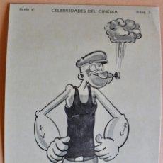 Coleccionismo Cromos antiguos: CELEBRIDADES DEL CINEMA- SERIE C - NUM 5 - POPEYE - 1934. Lote 222323357