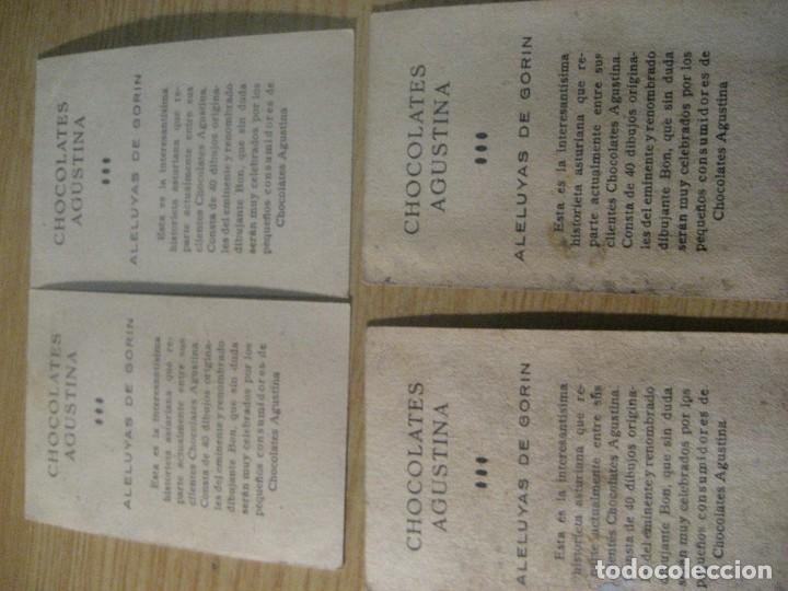 Coleccionismo Cromos antiguos: 4 cromos aleluyas de gorin 10 -14- 22- 13 - chocolates agustina , dibujos BON asturias - Foto 2 - 222347806
